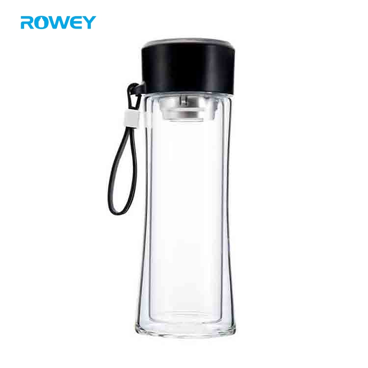 glass water bottle with tea filter
