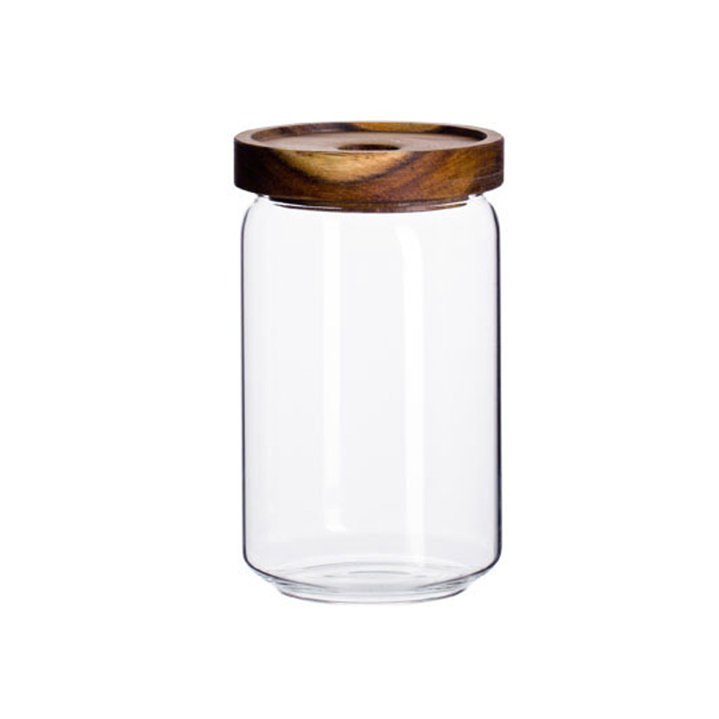 DJ-006 customized eco wide mouth beauty decorate glass jar for candy