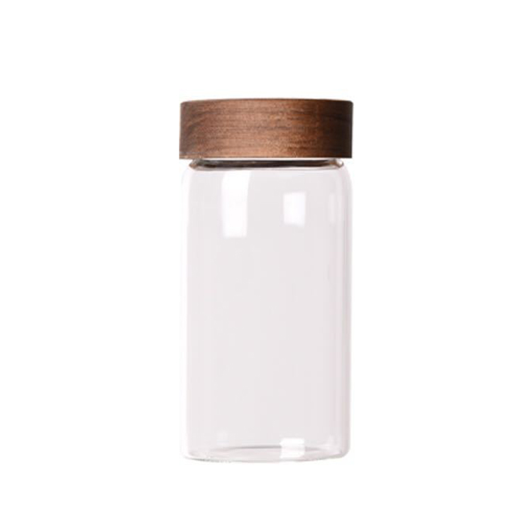 DJ-011 New Design Reusable Knob Lid Yogurt Glass Bottle Jar