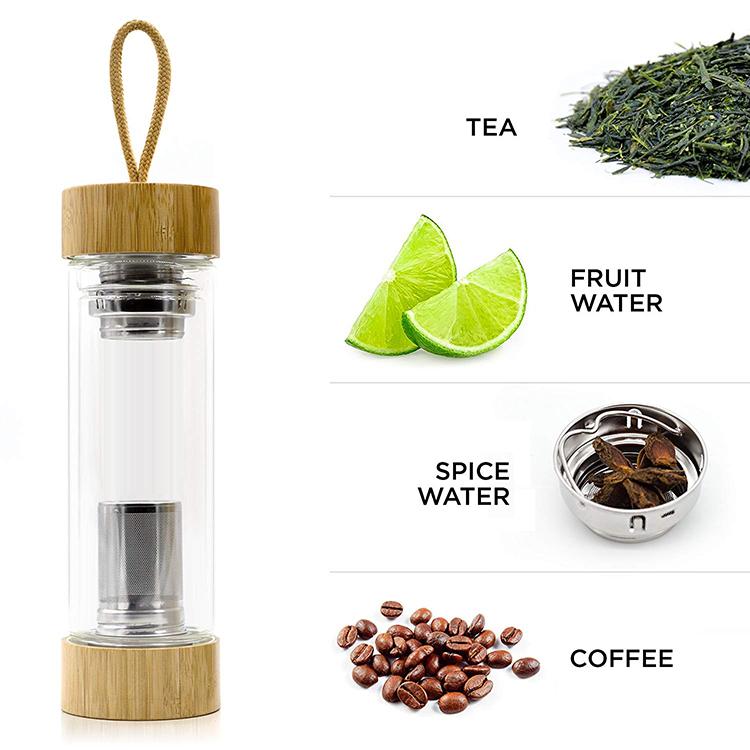 eco-friendly glass water bottle